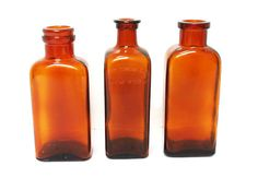 Vintage Amber Bottles Set of Three for an by BlueMoonCollectibles