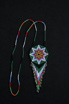 Collar Huichol Seed Bead Necklace, Seed Beads, Beaded Necklace, Beaded Bracelets, Native American Fashion, Native American Jewelry, Handmade Beads, Handmade Jewelry, Collar Redondo
