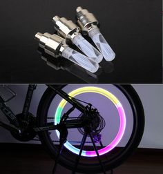 1 stks fietsverlichting mtb weg mountainbike fiets lichten LEDS Tyre Ventieldopjes Wiel spaken LED lamp auto lampen BL0133
