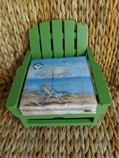 Adirondack Chair Napkin Holder with Cocktail Napkin Beach Party House - Easy Breezy Styles -
