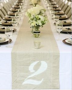 Creative ways to number tables at your wedding!