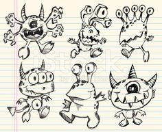 doodle monster - Buscar con Google