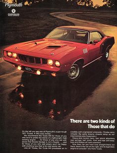1971 Plymouth Hemi Cuda Advertisement Hot Rod Magazine November 1970