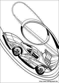 hot wheels coloring pictures