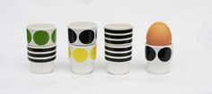 Stripes Egg Cups Set by Camilla Engdahl