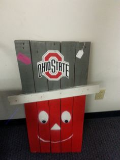 Large Hand Made Pallet Wood Ohio State Stand by MonsterUpcycling More