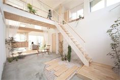 Staying true to the principles of Japanese architecture, yet adding that little extra that makes a home comfortable and welcoming, Japanese studio ALTS Design Office designed a charming family home in Shiga, Honshu Island. Kofunaki House has a total sur Architecture Design, Contemporary Architecture, Japanese Architecture, Contemporary Homes, Unique Architecture, Minimalist House Design, Minimalist Home, Interior Garden, Interior Exterior