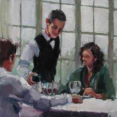 Sunday Brunch II, painting by artist Robin Cheers