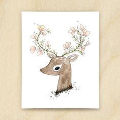 Illustration Flowering fawn - Cassie Loizeaux - fée pas ci, fée pas ça