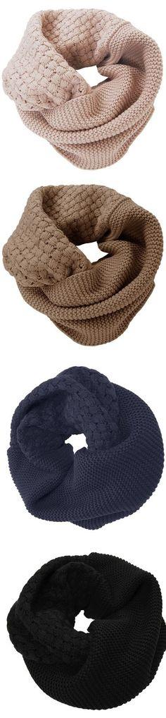 Waffle knit circle scarves