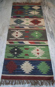 Vintage Turkish Kilim Rug, Kilim Runner, Wool / Jute Kaysari Kilim Rug Carpet, #Turkish