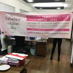 The banner has arrived! And it came with a pair of legs we can't wait for our Valentines Fair! Goodie Bags, Leicester, Love Life, Valentine Gifts, Artisan, Banner, Things To Come, Legs, Handmade