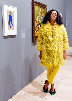 bbd88bf553c celebritiesofcolor  Solange Knowles at the Max Mara celebration of the  opening of The Whitney Museum Of American Art at it s new location on April  2015 in ...