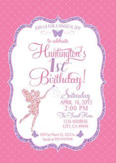 fairy invitation birthday fairy party invite butterfly glitter