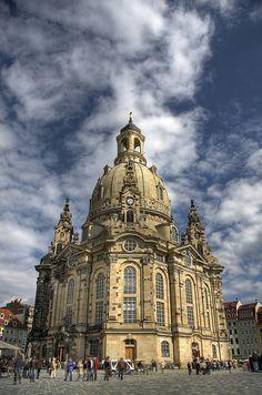Frauenkirche in HDR, Dresden, Saxony, Germany
