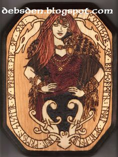 Translation of Freyja: HAEIL FREYA (freyja), SISTER OF FREYR, WIF (wif) OF OD, POSESOR (possessor) OF BRISNGAMEN (brisingamen), LADEI (lady) OF THE WANIR (vanir).
