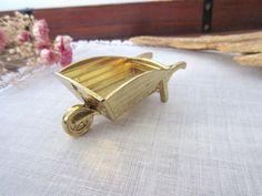 Dollhouse  Brass Wheelbarrow   Miniature  by Mydaisy2000 on Etsy