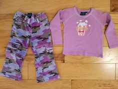 Girls Mini Boden Outfit Size 2-3 Years - Long Sleeve Shirt and Cordoroy Pants #MiniBoden