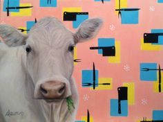 Beef, by Dawn, oil and acrylic on canvas, 24 x 18. $560. 14 x 11 & 20 x 16 prints available.