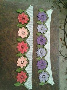 Crochet Edging Patterns, Crochet Lace Edging, Crochet Borders, Crochet Cross, Lace Patterns, Crochet Home, Crochet Flowers, Knitting Patterns, Knitting Projects