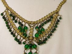 MIriam Haskell is classic and an inspiration to YB Green Upcycled Glass Jewelry. I think I can make something inspired by this lavish necklace.