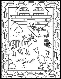 Dover Children's Sampler - Noah's Ark Stained Glass Coloring Book