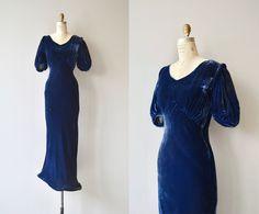Choir of Theories dress vintage 1930s silk velvet dress
