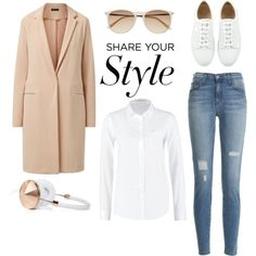 A fashion look from March 2015 featuring sheer long sleeve shirt, long sleeve coat und skinny fit jeans. Browse and shop related looks.