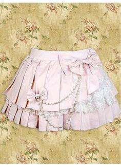 Cheap Short Pink Cotton Sweet Lolita Skirt With Ruffles Hemline Sale At Lolita Dresses Online Shop