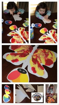 """""""Making Montessori Ours"""": Elements of Art - Colour Mixing Butterflies"""