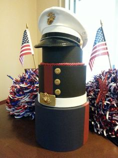 Marine Corps cake topper...my latest creation for my step-son's going away party.