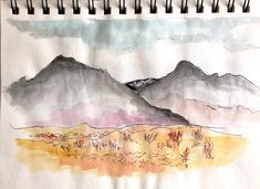 Quick ink sketch and wash in moving bus, Iceland Weekend Artist, Iceland, Sketch, Tapestry, Ink, Painting, Decor, Ice Land, Sketch Drawing