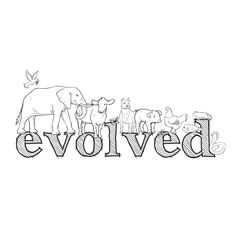 EVOLVED long sleeved organic fair trade cotton T shirt by BeeZee EcoLand illustration <3 #vegan #organic #ethical #sustainability #healthy #loveAnimals #EthicalFashion #HealthyFashion