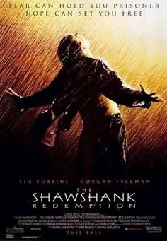 """The Shawshank Redemption Directed by Frank Darabont. Based on the short story """"Rita Hayworth and Shawshank Redemption"""" by Stephen King. Starring Tim Robbins, Morgan Freemon, and Bob Gunton. Poster Print, Poster Design, Poster S, Film Movie, See Movie, 1 Film, Hindi Movie, Movie Titles, Rita Hayworth"""