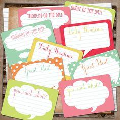 Free Smash Printables.....journaling cards