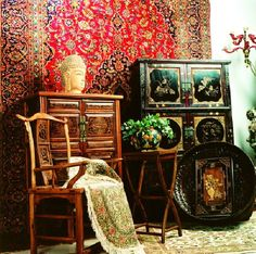 Furniture. Chinese Interior Furniture for Contemporary Residence in Shanghai: Interesting Chinese Antique Furniture Design Chairs And Small Cupboard Made From Wooden ~ wegli