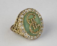 Gold ring of Catherine II with her monogram in diamonds, Russian (St. Petersburg), c. 1770.