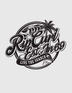 Rip Curl Lockups by Ross Dickson, via Behance