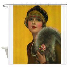 Flapper, Girl, Art Deco, Vintage Poster Tile Coast by VivianAllen - CafePress Vintage Prints, Vintage Art, Vintage Ladies, Vintage Pictures, Vintage Images, Flapper Girls, Flapper Hat, Sculpture Textile, Illustrations Vintage