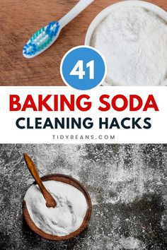 Know these 41 easy baking soda cleaning hacks. You won't be needing expensive cleaning products if you start using baking soda for cleaning purposes. It also can be used as a deodorizer. Let's see what few baking soda cleaning hacks that you can apply today are. #home #hacks #cleaning #homehacks #DIY #BakingPowderForCleaning Baking Soda For Cooking, Baking Powder For Cleaning, What Is Baking Soda, Baking Soda For Skin, Baking Soda Beauty Uses, Baking Soda Health, Baking Soda On Carpet, Baking Soda Baking Powder, Baking Soda Shampoo