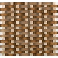 Found it at Wayfair - Lucente Tromba Random Sized Glass Mosaic Tile in Brown