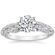 18K White Gold Plume Diamond Ring from Brilliant Earth