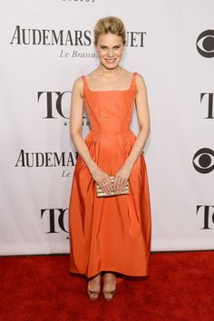 Vogue Daily — Celia Keenan-Bolger in a Zac Posen dress and an Edie Parker clutch 2014 Tony Awards