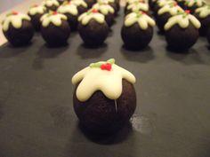 Mini Christmas pudding chocolate brownies