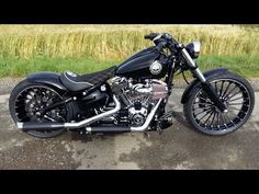 Harley Davidson FXSB Breakout Exhaust Sound - YouTube