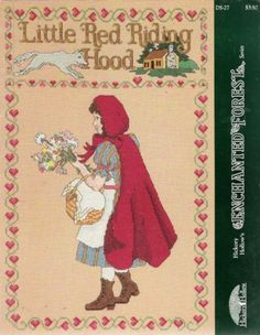 Hickory Hollow's  Little Red Riding Hood Cross by anniesshoppe, $2.75
