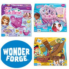 Holiday Gifts: super fun board games from Wonder Forge. Jake & the Neverland Pirates, Doc McStuffins, and Sofia the First Tea Time!