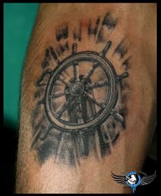 ##Ship##Wheel##Tattoo##Design##Angeltattoostudio##Indore## Ship Wheel Tattoo Design