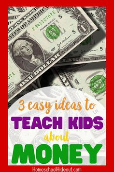 Teaching kids about money can seem impossible but with a few easy ideas, you can show them how to be financial responsible, no matter how old they are! Homeschool High School, Homeschool Curriculum, Homeschooling, Literacy Programs, Financial Literacy, Educational Websites, Educational Technology, Teaching Kids, Kids Learning