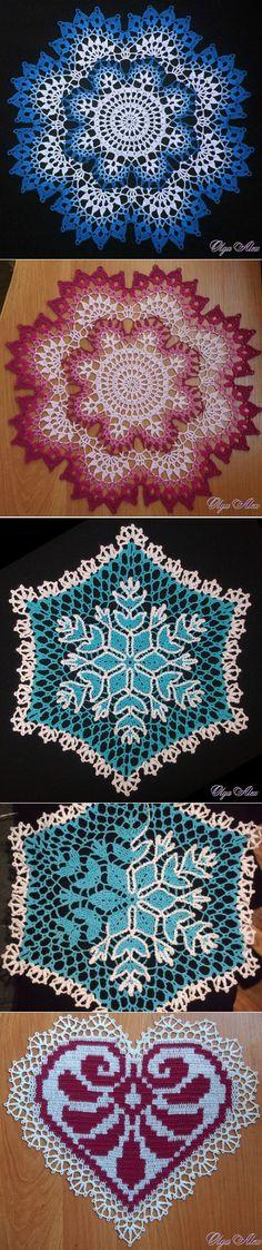 55 Ideas crochet heart mandala doily patterns for 2019 Crochet Baby Socks, Crochet Dollies, Crochet Gloves, Thread Crochet, Crochet Diagram, Crochet Chart, Filet Crochet, Crochet Motif, Crochet Flower Patterns